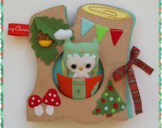 Navidad estilo tranquilo, libro de actividad, ocupado del libro, sentido libro de actividades, Regalo Navidad, regalo de niño