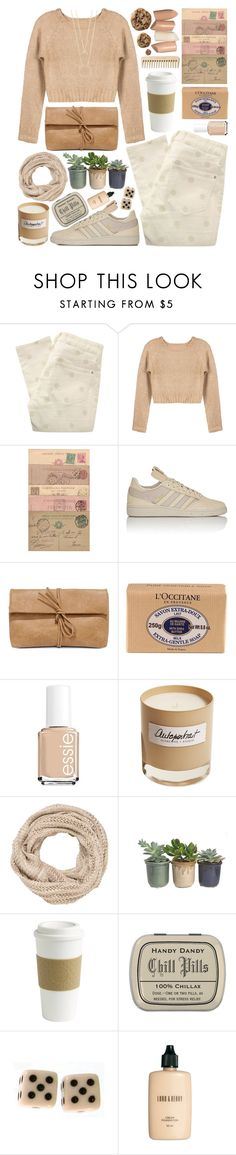 """Letters from Afar"" by ladyvalkyrie ❤ liked on Polyvore featuring Marc by Marc Jacobs, adidas, LULUS, L'Occitane, Essie, Olfactive Studio, maurices, Hostess, Copco and Lord & Berry"
