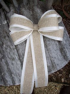 Burlap Pew Bows, Burlap Wedding, Aisle Decor, Rustic Wedding, Shabby Chic, Pew Bows, Wreath Bows