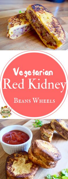 Red Kidney Beans Wheels .  Scrumptious vegetarian snacks made up of red kidney beans. Utterly delicious.