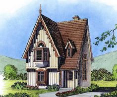Vintage Charm - 43043PF | 2nd Floor Master Suite, Cottage, Country, Loft, Narrow Lot, PDF, Vacation | Architectural Designs