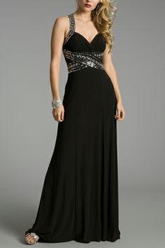 black and silver long evening dress | Prom Mafia» Black Prom Dresses