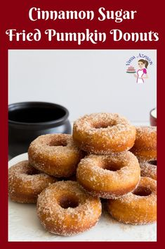 Learn to make the perfect fried donuts using my secret techniques and you never want to buy store-bought donuts again. These cinnamon sugar pumpkin donuts Cake Donut Recipe Fried, Pumpkin Doughnut Recipe, Donut Recipes, Pumpkin Recipes, Bread Recipes, Dessert Recipes, Cinnamon Sugar Donuts, Apple Cider Donuts, Cinnamon Desserts