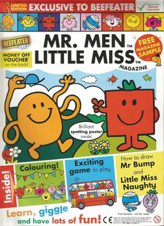 Mr. Men Little Miss Magazine - Beefeater Special Issue - Front Cover