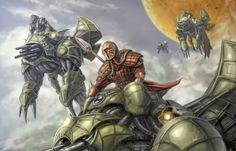 Mandalore the Indomitable, leading his forces atop Basilisk war droids