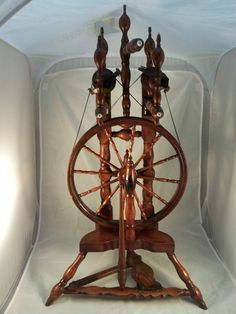 Antique Double Flyer Spinning Wheel German 1890s Wedding Wheel Wool Flax in   eBay