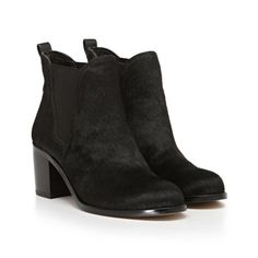 Beautifully Groomed: Sam Edelman Justin Booties in Black Brahma, available at SamEdelman.com