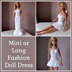 Free-Crochet-Mini-Or-Long-Crochet-Fashion-Doll-Dress-Pattern-.jpg (720×720)