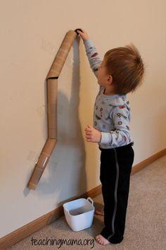 Juego con niños: Cartón Tubos y Pompones