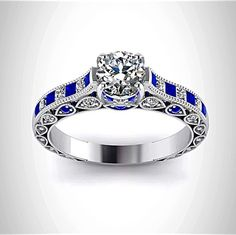 Doctor Who Inspired 4.5CT Sapphire Diamond Engagement Ring  http://www.razosringshop.com/store/p39/Doctor_Who_Inspired_4.5Cts_Sapphire_Diamond_Engagement_Ring.html