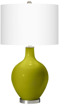 Olive Green Ovo Table Lamp -