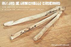 Gallimelmas e Imaginancias: Craft Project: Cómo hacer unas agujas de ganchillo caseras :D