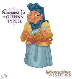 Grandma Fa as Olenna Tyrell by DjeDjehuti.deviantart.com on @deviantART