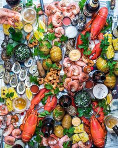 21 Ideas For Seafood Platter Presentation Appetizers Seafood Platter, Seafood Dishes, Seafood Recipes, Seafood Bbq, Seafood Appetizers, Romantic Dinner Recipes, Romantic Dinners, Recipes Dinner, Antipasto