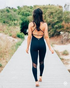 $195 Take Your Workout To The Next Level With This All In One One Piece Romper From Alala Style Sexy Chic Black Criss Cross Open Back Mesh Panel Sports Leggings Activewear Tumblr