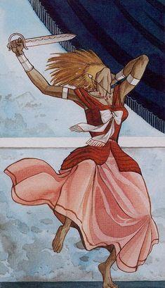 Queen of Swords - Afro-Brazilian Tarot by Giuceppe Palumbo