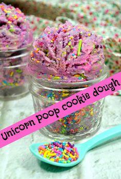 Super netter Unicorn Poop-Plätzchenteig - Cooking with Kids - Essen Cookie Dough Recipes, Edible Cookie Dough, Brownie Recipes, Yummy Treats, Sweet Treats, Yummy Food, Tasty, Delicious Recipes, Unicorn Poop Cookies