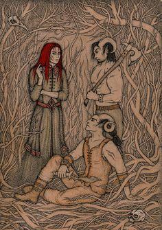 Durza and his urgals by emiliasforza