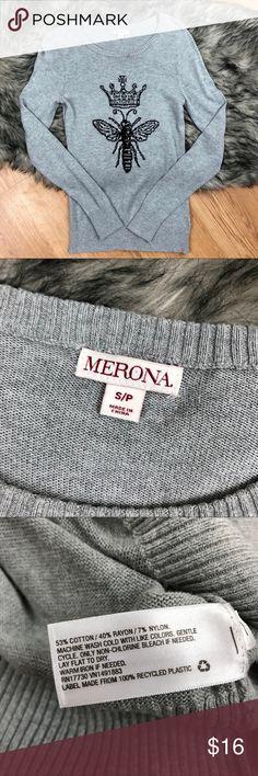 Queen bee sweater Sweater from Erin's with queen beee graphic.  Size small Merona Sweaters Crew & Scoop Necks