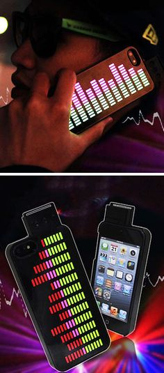 This iPhone case has a working equalizer on the back! #cellphone #iPhone accessory
