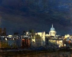 Andrew Gifford From Southbank Towards the City study 52012