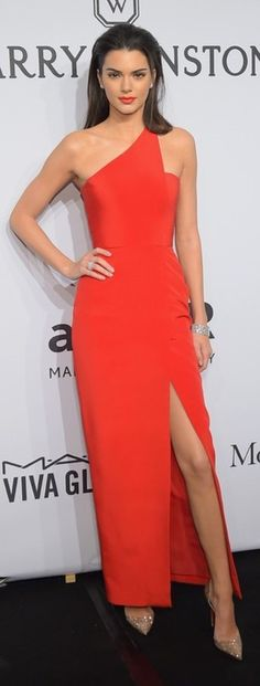 Red Dress and Pointed Toe Heels. Beauty on High Heels #Fashion