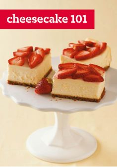 Cheesecake 101 – Secrets for cheesecake success! The basics to making the perfect Philadelphia Cheesecake from pan options to garnishes.
