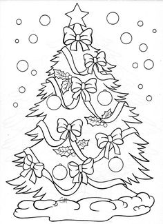 Christmas tree - coloring page: