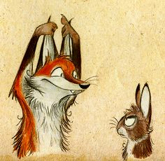 I'm a Rabbit, Artist: Skia (DeviantArt)  #art #illustration