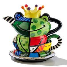 Tea for One - Kikker design van Romero Britto