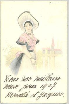 MF135 VIENNE Style FEMME COSTUME Provençal ? BEAUTIFUL LADY