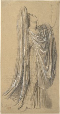 """Jean Auguste Dominique Ingres (1780–1867), Study for the Figure of France in """"The Apotheosis of Napoleon I"""", 1853 