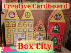 Cardboard Box City for imaginary play - you can choose to get as creative as you like, or take the easy way like we did :-)