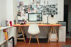 Schreibtisch im Vollformat, Tags DIY + Gelb + Schreibtisch
