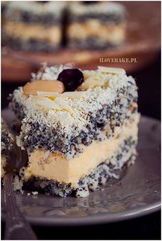 Makowa Panienka Ciasto - I Love Bake Biscuits, Recipies, Cheesecake, Good Food, Pudding, Cook, Baking, My Love, Kitchens