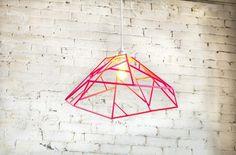 Pendant Light Pendant light shade pedant lamp by Handmade Home, Handmade Design, Everything Is Illuminated, Pink Pendants, Mid Century Modern Furniture, Midcentury Modern, Modern Pendant Light, Handmade Furniture, Furniture Decor