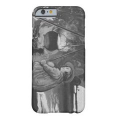 Monochrome Witch Black Cat Cauldron Full Moon iPhone 6 Case