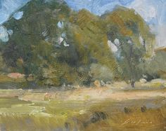 "Pennington Road Trees by Simon Addyman Oil ~ 8"" x 10"""