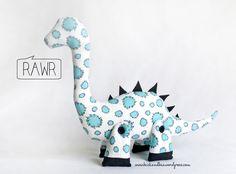 Dale the Diplodocus - The sewing pattern - RAWR! buckandbaa.wordpress.com SO CHEAP!