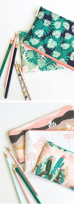 Illustrated pouch by Mama Bleu Designs // organization supplies // bullet journal