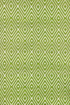 #DashAndAlbert Diamond Sprout/White Indoor/Outdoor Rug