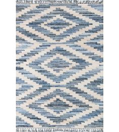 The California rug features a hand-woven oversized Ikat design. Its saturated tonal hues against a neutral background bring a crisp boldness to any contemporary and west coast-inspired space.