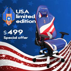 DXRACER kf74bwr office chair pc gaming chair automotive seat computer chair