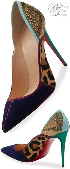 Brilliant Luxury * Christian Louboutin Serianina Pointed-Toe 100mm Red Sole Pump