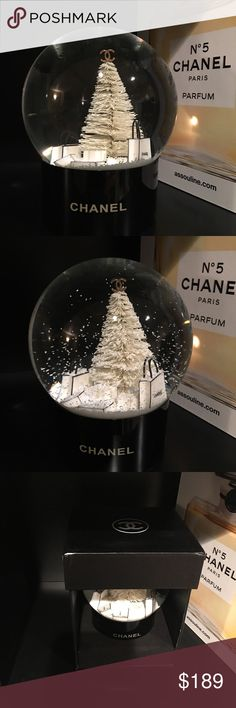 Chanel Snow Globe New with box- comes with a really cute gift box making this the perfect gift for a Chanel lover! Display this beauty year around. The last pic is the newest 2017 Gold version also listed separate CHANEL Accessories