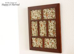 Framed Fabric Wall Art.