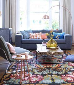 #onerugonelove Rug Inspiration, Living Spaces, Living Room, Contemporary Rugs, Scandinavian Design, My Dream Home, Interior Decorating, Sweet Home, Colours