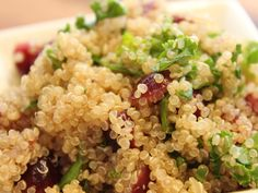 Grains and Greens: Kale and Quinoa Salad - Fresh kale, craisins and quinoa combine to create this hearty and healthy salad.