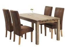 Stůl LUNDBY + 4 židle BORUP