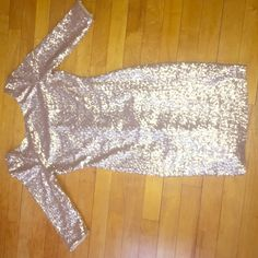 Gold Sequin Party Dress  Size: Small Beautiful sequin dress, body con, 'U' cut in the back Dresses Mini